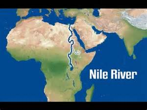 Nile River On World Map by The Nile River Youtube