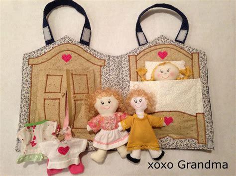 sewing pattern dolls house xoxo grandma fabric doll house a free pattern to make a