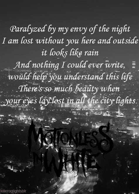 City Lights Lyrics by City Lights Motionless In White