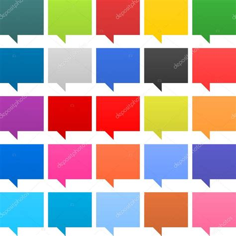 contemporary colors 25 speech bubble sign web icon empty buttons painted in