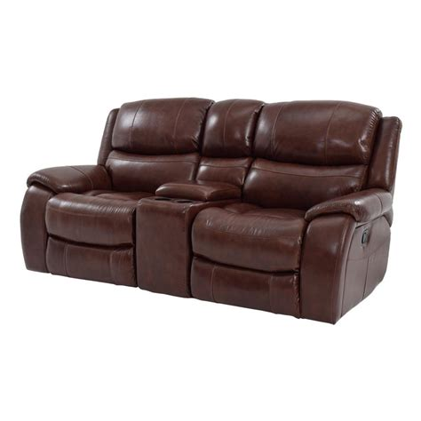 el dorado leather reclining sofa sofa with console 3 reclining sofa with