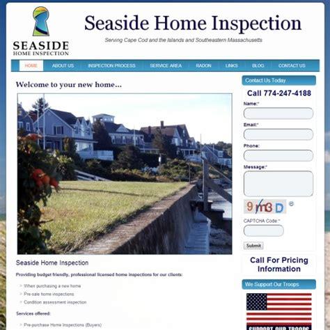 home inspection cape cod web design