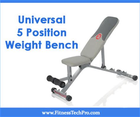 universal workout bench universal 5 position weight bench review fitness tech pro
