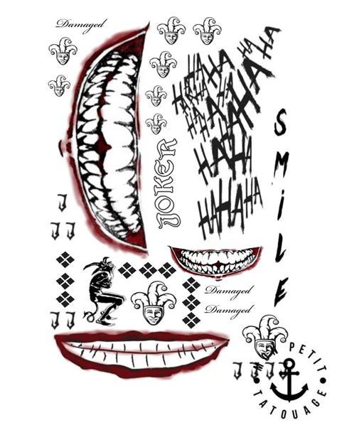 tatouage squad joker temporaire mon petit