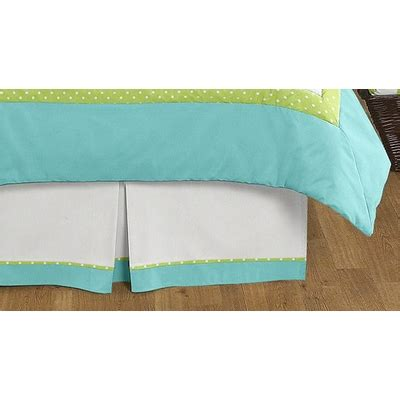 turquoise bed skirt hooty owl turquoise and lime queen bed skirt townhouse