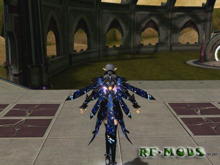 blue armor glow cora  jetpack rising force
