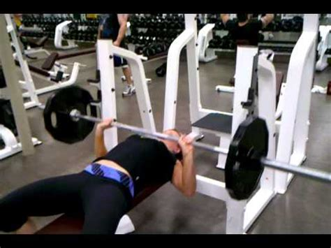 135 bench press bench press girl 135 youtube