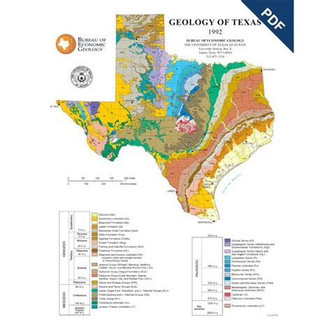texas geological survey maps sm0002pd geology of texas map poster downloadable the bureau store