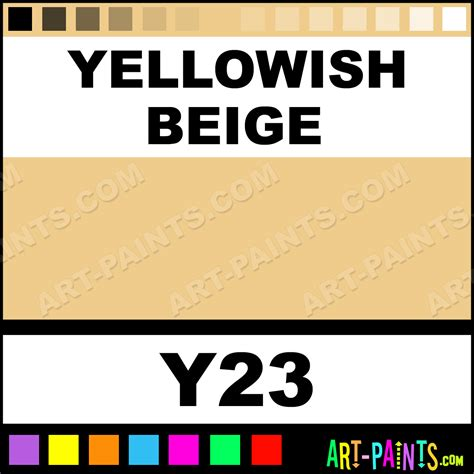 yellowish beige sketch markers calligraphy inks pigments and paints y23 yellowish beige