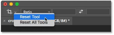 reset tool photoshop cc how to crop images in photoshop cc