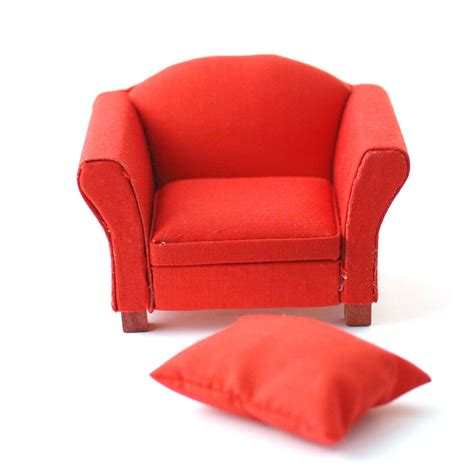 the red armchair df1157 modern red armchair online dolls house superstore