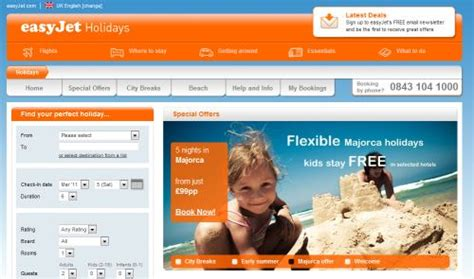 Easyjet Low Cost Calendar Easyjet Holidays Site Goes Live Targets Thomson And