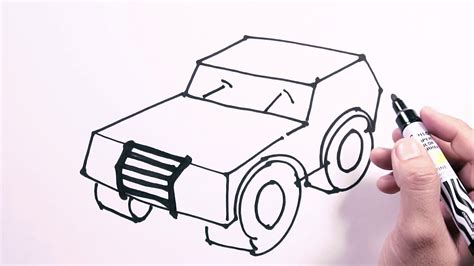 jeep drawing easy how to draw road jeep draw easy freehand easy to