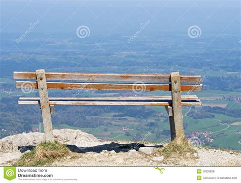 mountain bench bench on mountain royalty free stock photos image 19305828