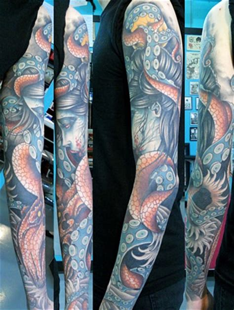 octopus sleeve tattoo 45 best octopus sleeve tattoos