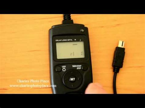 how to use dslr how to use a dslr timer remote