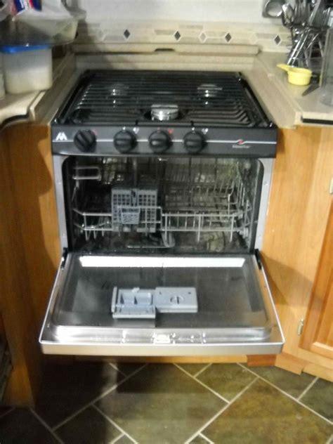 Rv Cooktop Rv Mods Stove Oven To Dishwasher Conversion Re Purpose