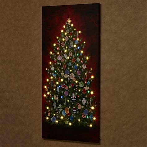 lighted christmas canvas art happy christmas tree 59 inch tall led lighted canvas wall