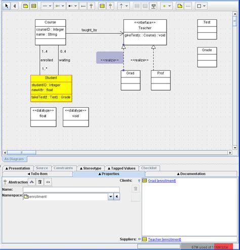 argouml class diagram how can i complete this step in the argouml class diagr
