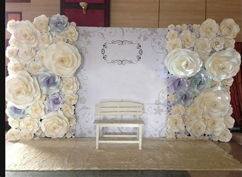Wedding Backdrop With Paper Flowers by Paper Flowers Backdrop Destiny Backdrops