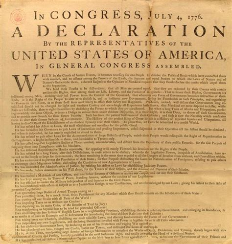 what are the 4 sections of the declaration of independence the declaration of independence
