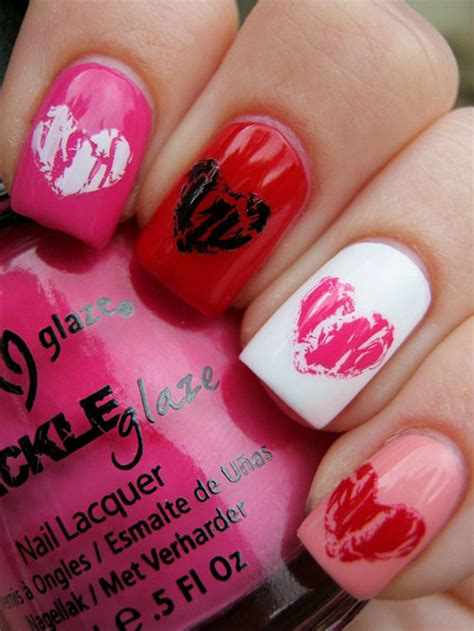 easy nail art heart 18 simple valentine s day red heart nail art designs