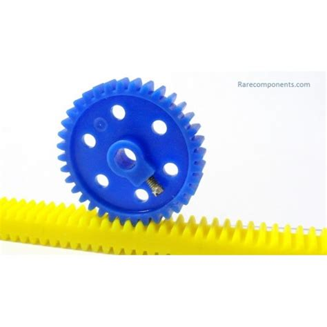 Plastic Rack And Pinion by Plastic Spur Pinion Gear Blue 6mm Circular Shaft Gb 2