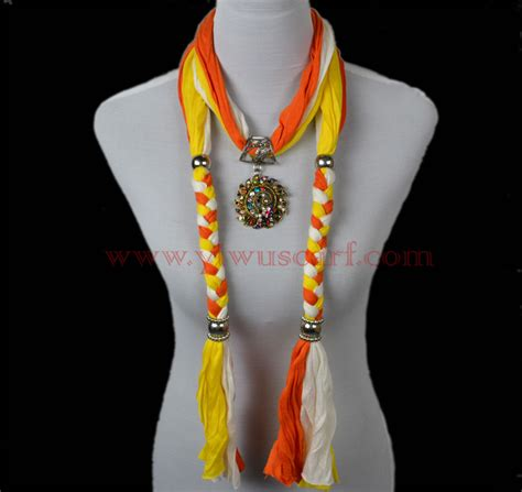 wholesale scarf necklace jewelry pendant scarves china scarf