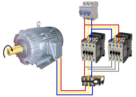 wiring diagram motor bolak balik forward three