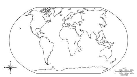 World Map For Students To Colour   map of the world for kids to color coloring home