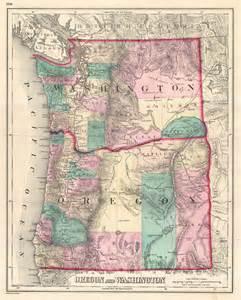 washington oregon map file 1875 gray map of washington and oregon geographicus