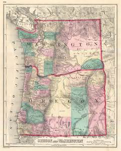 map of oregon and washington state file 1875 gray map of washington and oregon geographicus
