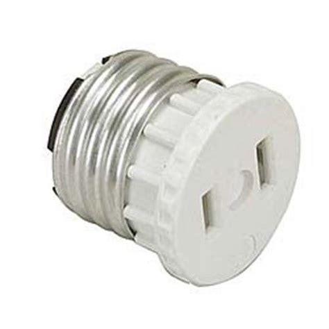 light socket adapter outlet to medium base light socket adapter no 125 leviton