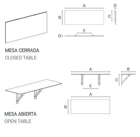 mesas de cocina medidas mesa de cocina plegable dise 241 o muebles y complementos
