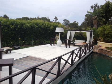 plexi glass clear floor pool cover rentals 818 636