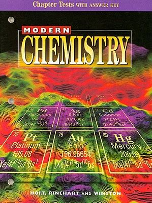 modern biology chapter tests by holt rinehart and modern chemistry chapter tests with answer key book by