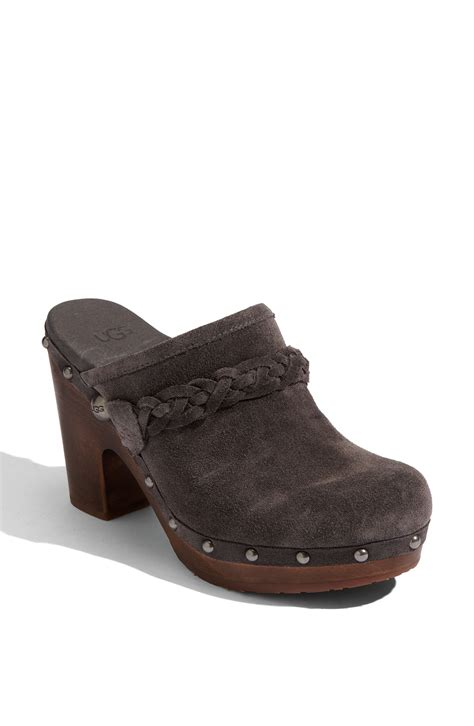 clogs boots for ugg clog in gray charcoal lyst