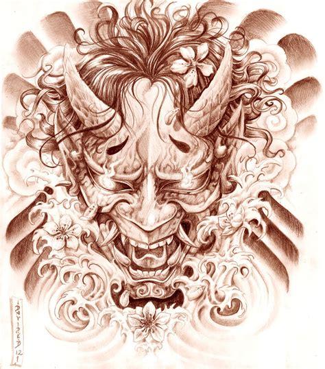 hannya mask tattoo designs japanese mask designs hannyah mask design by