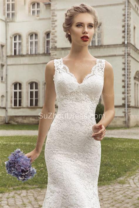 Vintage Lace Sheath Appliques Bridal Dress 2019 Court
