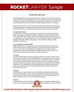 copyright contract template free user agreement for community website terms template
