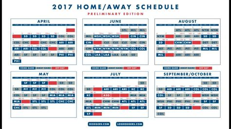 Dodger Schedule Giveaways - dodgers schedule bing images
