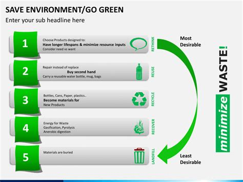 where to save powerpoint templates save environment go green powerpoint template sketchbubble