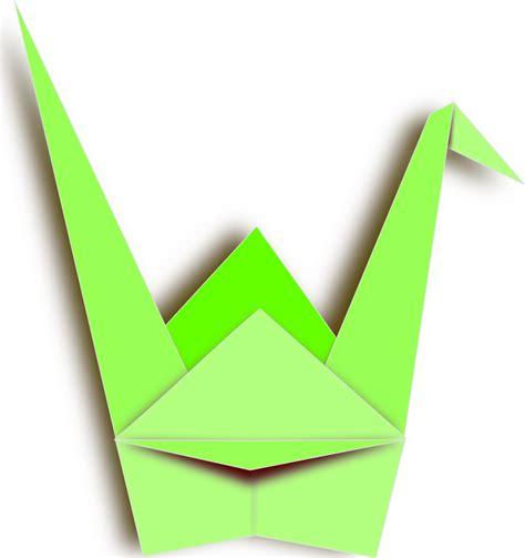 Origami Paper Clip - free green origami clip