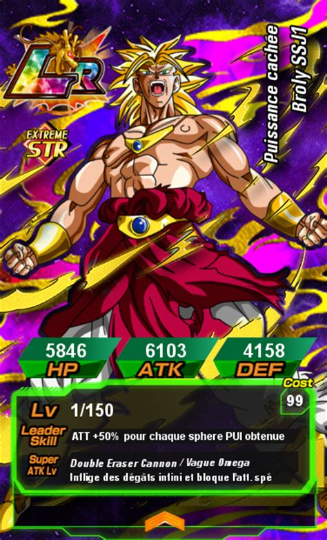 dokkan battle card template cards broly ssj1 1 by larnacoeur on