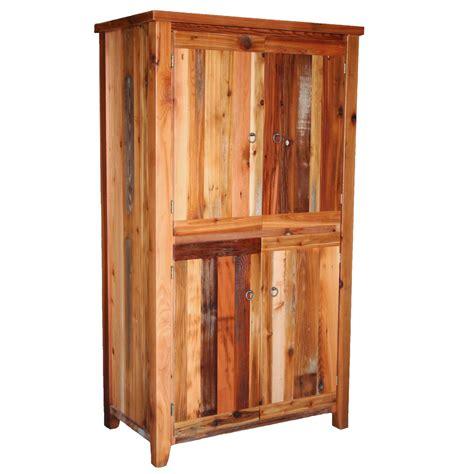 4 Door Armoire by Barnwood Leg 4 Door Armoire