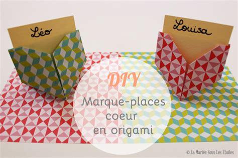 Diy Marque Place by Diy Marque Places Cœur En Origami La Mari 233 E Sous Les