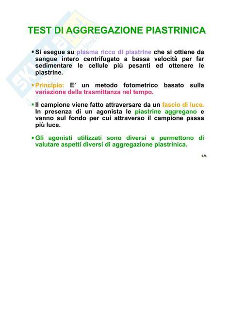 test di aggregazione piastrinica patologia clinica l aggregazione piastrinica