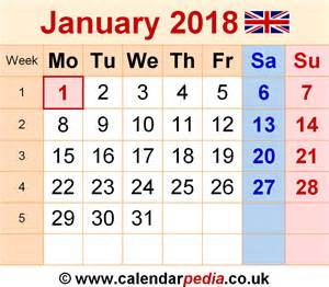 United Kingdom Uk Calendrier 2018 Calendar January 2018 Uk Bank Holidays Excel Pdf Word