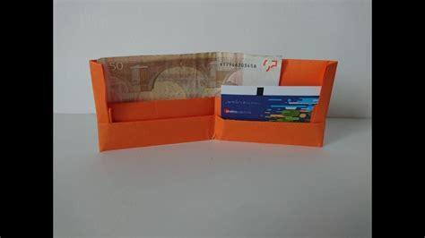 yutube com hacer cartera como hacer una cartera de papel muy facil origami