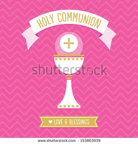 holy card templates holy communion card template stock vector